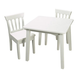 Gift Mark - Gift Mark White Square Table and Chair Set - The Gift Mark Square Table and 2 Chair Sets are Durable. These Table and Chair Sets will add a touch of sophistication to any child's room or Play Room. Intended specifically for your Child. Children Play for Hours on end. Our Table and Chair Sets clean easily with any quality Furniture Polish. All Tools Included for Assembly. Easy to Assemble