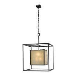 World Imports - Hilden 8-Light Hanging Pendant, Aged Bronze - Adjustable hanging length