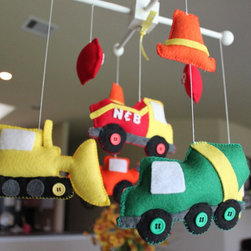 Baby Crib Mobile Baby Mobile by Drops of Color - This Etsy find is perfect for the littlest builder in your life.