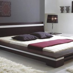 Sonata - Platform Bed in Wenge - Features