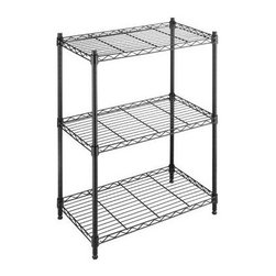 Whitmor - Supreme Small 3 Tier Shelving - Expand the shelf space in your kitchen laundry room basement bathroom office or anywhere you need extra storage throughout the house with Whitmors black supreme small 3 tier shelving unit. This durable shelf unit is constructed of heavy duty black epoxy steel featuring shelves that each has a 200 lb. capacity. The adjustable leveling feet add stability on any floor surface. Set up is easy with no tools required. Whitmor's Supreme shelves carry a 10 year limited warranty.