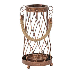 "Ren Wil - Ren Wil CAN074 Cabot 9"" Iron Table Candle Holder - Features:"