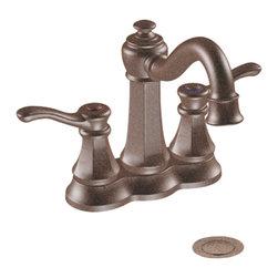 """Moen - Moen CA6301ORB Oil Rubbed Bronze Bath Sink Faucet Two Lever Handle 4"""" Centerset - Moen CA6301ORB Vestige two handle High Arc Bathroom Faucet - Oil Rubbed Bronze"""