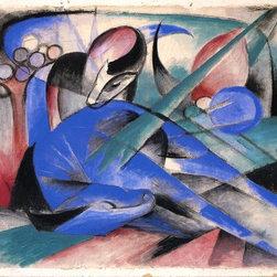 "Franz Marc Horse Asleep - 16"" x 20"" Premium Archival Print - Horse art"