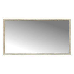 "Posters 2 Prints, LLC - 72"" x 39"" Libretto Antique Silver Custom Framed Mirror - 72"" x 39"" Custom Framed Mirror made by Posters 2 Prints. Standard glass with unrivaled selection of crafted mirror frames.  Protected with category II safety backing to keep glass fragments together should the mirror be accidentally broken.  Safe arrival guaranteed.  Made in the United States of America"