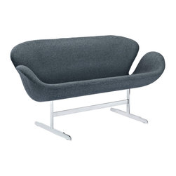 Wing Loveseat - Perhaps no chair is more synonymous with organic design than the Wing chair. First intended as an outstretched reception chair, the piece is expansive like the wings of its namesake. While organic living promotes the harmonious balance between human habitation and the natural world, achieving proper balance is a challenge.