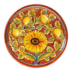 """Ceramic - Italian Sunflower 14"""" Platter - Italian Sunflower 14"""" Platter"""