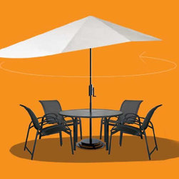 Vizor Outdoor Umbrella by Vizor D Firo - If you love to spend time in your outdoors but don?t just to avoid the rays of the sun,we have a perfect solution for you! Bring home the stylish and state-of-the-art Vizor Umbrella - an elegant response to the problem of consistent outdoor shading ? a brilliant stand alone device that offers complete,effective and targeted shade throughout the day.