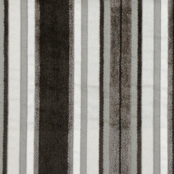 Stripe - Charcoal Upholstery Fabric - Item #1010063-79.