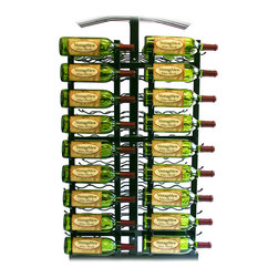 VintageView - VintageView 18 Bottle Island Display Metal Wine Rack Wall Mounted Island Display - (RequiresIDR3 Island Display Rack) Utilize the space on the end of your Island Display Rack. Includes endcap frame and two WS31 racks.
