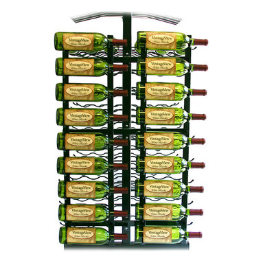 VintageView - VintageView 18 Bottle Island Display Metal Wine Rack Wall Mounted Island Display - Utilize the space on the end of your island display rack. Includes endcap frame and two WS31 racks (Requires IDR3 island display rack)
