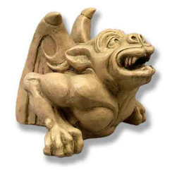 Orlandi Statuary - Gerome Gargoyle Statue Multicolor - F68520GEROMEGARGOYLE - Shop for Statues and Sculptures from Hayneedle.com! Give the Gerome Gargoyle Statue a corner of your garden to call home. The statue features just the upper half of a gargoyle making it look like he is burrowing out of the ground. The wings have exotic designs and Gerome's face and arms are intricately detailed. Place this statue under a bush near an entryway or pathway to your guests' surprise. Constructed from a durable and lightweight fiberglass resin this statue can be placed outdoors in any environment. At 8 inches high it is ideal for any size garden.About Orlandi StatuaryBorn in 1911 when Egisto Orlandi traveled from Lucca Italy to Chicago Illinois Orlandi Statuary quickly set the standard for excellence in their industry. Egisto took great pride in his craft and reputation and which is why artists interior designers and museums relied upon the careful details and impeccable quality he demanded. Over the years they've evolved into a company supplying more than statuary. Orlandi's many collections today include fiber stone for the garden religious statuary fountains columns and pedestals. Their factory and showroom are still proudly located in Chicago where after 100 years they remain an industry icon.