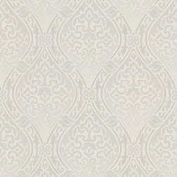 Graham and Brown - Labyrinth Wallpaper in Stone-Cream - Finally, a wallpaper for the design connoisseur. Deck your walls with this neutral ogee wallpaper when you want texture and interest for a refined atmosphere in your living room or bedroom. The cut background reflects a hint of light to give your room depth and presence in a classic curving pattern that is a modern-day classic.