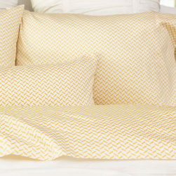 Yellow Herringbone Sheet Set - This timeless print is the perfect layering piece for the bed with its beautiful herringbone pattern in the loveliest shade of yellow. Luxurious and super soft, our patterned sheet sets are woven from 300 thread count in premium long staple cotton.