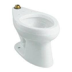 KOHLER - KOHLER K-4406-0 Wellworth 1.28 Flushometer Bowl - KOHLER K-4406-0 Wellworth 1.28 Flushometer Bowl in White