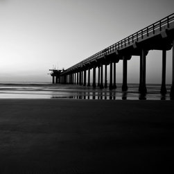 Calm Pier, 60x40, Metallic Photo Paper Print - Digital artwork on metallic photo paper or plexiglass. Wipe clean with a damp microfiber towel only. Only 1 piece will be produced in the size selected by the purchaser. No other sizes or options will be produced.