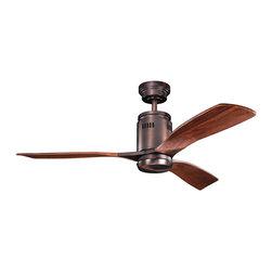 Kichler Lighting - Kichler Lighting 300145OBB Ridley 1 Light Indoor Ceiling Fans in Oil Brushed Bro - 52 Inch Ridley Fan