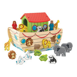 "KidKraft - Kidkraft Kids Colorful Educational Development Toy Noah's Ark Shape Sorter - Our Noah's Ark Shape Sorter lets kids play with adorable animals and work on their shape recognition skills at the same time. It's so much fun watching a young kid sit down with this shape sorter and try to fit the pieces into the right spaces. Age Range: 1 Plus. Dimension: 6.25""x 10.51""x 8.28"""