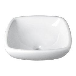 DECO LAV_ INC. - Square Ceramic White Vitreous China Vessel - Features: