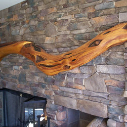 Osage Orange Tree Mantel - Woodwork by Architectural Justice