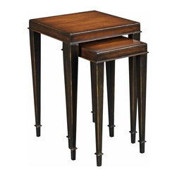 EuroLux Home - New Nesting Tables  Black Mahogany Square - Product Details