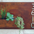 "Urban Mettle - 20"" x 30"" Handmade wall planter & address plaque by Urban Mettle"