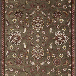 "Loloi Rugs - Loloi Rugs Halton Collection - Brown / Rust, 3'-10"" x 5'-7"" - The colors are vivid and the transitional designs are appealing, but what really stands out in Halton is the details. Take a closer look (or zoom in) and you'll notice Halton was expertly designed with subtle shadings and intricate patterns to give it the appearance of a hand-crafted rug. Power loomed in Turkey, the viscose surface is raised against a chenille base, giving Halton an element of dimension and texture that adds character and enhances perceived value. Also, the viscose surface has an irresistible shimmer, which further adds to its sophisticated appearance."