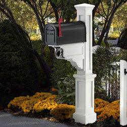 Dover Mailbox Post - Dress up your front yard with the Dover Mailbox Post. This stunning mailbox post features a classic design with a newspaper holder as well.