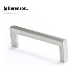 4108-1BPN-P Brushed Nickel Cabinet Pull by Berenson - Brushed Nickel modern style 96mm center to ...