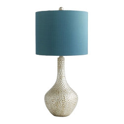 Teal Honeycomb Lamp - Only $55 for a cool-looking lamp! What's not to love?