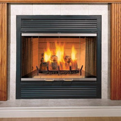 Majestic Sovereign Series 40'' x 43'' Wood Burning Fireplace - With two sizes to choose from, and two different facings to best suit your decor, the Sovereign wood-burning fireplace delivers the versatility you need to add a cozy hearth to almost any room.