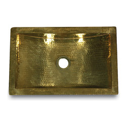 TRB - The TRB is a solid brass rectangle sink that is hand made and hammered in India.