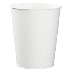 White 3-Gallon Waste Can - Tossing that old, cracked plastic waste bin and replacing it with one like this pretty metal number will kick things up a notch.