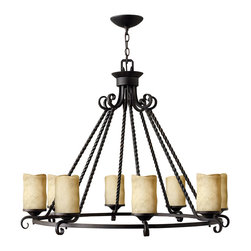 Hinkley Lighting - Casa 8-Light Chandelier - Forged Iron Strength in Design for your own casa. Comes in Olde Black finish. Takes 8 60-watt Medium bulbs.