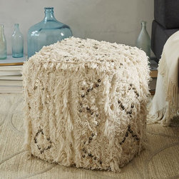 Moroccan Wedding Pouf - Almost like fiber art, this pouf is handmade and perfect for resting your feet at the end of a long tour.