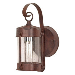 Nuvo Lighting - Nuvo 1-light Old Bronze Piper Wall Lantern - The Piper Lantern offers style and practicality at affordable prices. It's eye catching design makes for a beautiful addition that will enhance the exterior of your home.
