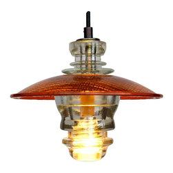 "Railroadware - Suspended Insulator Light LED Pendant 8"" Traffic Light Lens - Suspended Insulator Pendant 8"" Traffic Light Lens 120V/3W LED Bulb (Clear)"