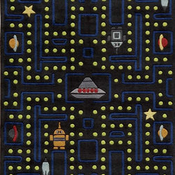 Momeni - Momeni Lil Mo Whimsey LMJ14 (Arcade Black) 8' x 10' Rug - Forest critters, retro robots and mod flowers, oh my! Quirky motifs combine to put 'Lil Mo Whimsy in a class by itself. Hand-tufted of soft mod-acrylic, this collection features hand-carving for added texture and a vibrant color palette to make it as fun as it is unique.