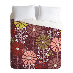 DENY Designs - Khristian A Howell Cape Town Blooms Warm Duvet Cover - Turn your basic, boring down comforter into the super stylish focal point of your bedroom. Our Luxe Duvet is made from a heavy-weight luxurious woven polyester with a 50% cotton/50% polyester cream bottom. It also includes a hidden zipper with interior corner ties to secure your comforter. it's comfy, fade-resistant, and custom printed for each and every customer.