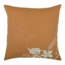 Rizzy Home - Orange and Khaki Decorative Accent Pillows (Set of 2) - T02807 - Set of 2 Pillows.