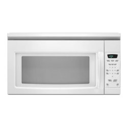 None - Amana White Over-the-Range 1.5 Cubic Feet Microwave Oven - Contemporary styling meets efficient cooking with this fantastic microwave oven. A hidden vent and a scrolling word prompt display guide you through the entire cooking process.