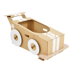 flatout frankie - Cardboard Little Racer - These hot wheels are a parent's dream. Ecofriendly, space saving and travel friendly, it serves as instant entertainment. Kids will scurry, scoot and steal away until the dinner bell rings.