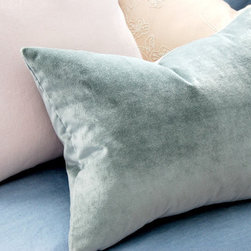 Dusty Blue Velvet Decorative Pillow by Homemaker Movement - This Dusty Blue Velvet Decorative Pillow is such a a lovely shade, isn't it?