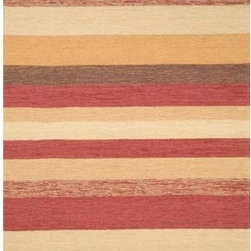 Trans Ocean Import - Ravella Stripe Red Rectangular: 5 ft. x 7 ft. 6 In. Rug - -Indoor/Outdoor  - Impervious to weather conditions  - Rinse off with common garden hose and allow to dry in the sun.  - UV treated to resist fading. -Polyacrylic Blend  Trans Ocean Import - RVL57190024