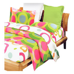 Blancho Bedding - Blancho Bedding - [Rhythm of Colors] 100% Cotton 3PC Sheet Set (Twin Size) - Three-piece set for Twin size (consisting of a pillowcase, a fitted sheet and a flat sheet)