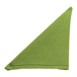 Artistica - Hand Made in Italy - BUSATTI: Napkin Zodiaco (60% Linen+40% Cotton) GREEN - BUSATTI: The pleasure and beauty of quality linens.