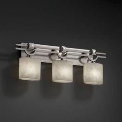 Justice Design CLD-8503-30-NCKL CloudsCollection - Argyle 3-Light Bath Bar -