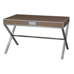 Cathy Bronze Mirrored Vanity Desk -