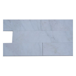 Asian Statuary 4x12 Marble Tile - ASIAN STATUARY 4x12 MARBLE TILE This minimalist design would make a striking backsplash for your kitchen or bring a modern touch to your fireplace or any other decorated spot in your home. This is a natural material will have a color variation. The mesh backing not only simplifies installation, it also allows the tiles to be separated which adds to their deign flexibility. Chip Size: 4x12 Color: Asian Statuary Material: Asian Statuary Finish: Polished Sold by the Square Foot - 3 pieces per sq. ft.