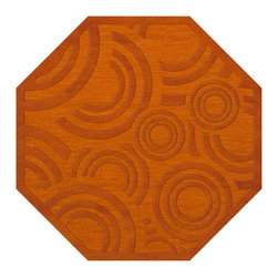 """Dalyn Rugs - Dalyn Rugs Dover DV3 Orange Rug DV3OR10OCT - """"Luxury"""", made in the USA. Stylish, tonal, geometric and floral designs. Textural cut and loop pile. 100% premium wool."""